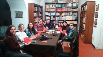 Una delle riunioni degli Universitari per la Vita